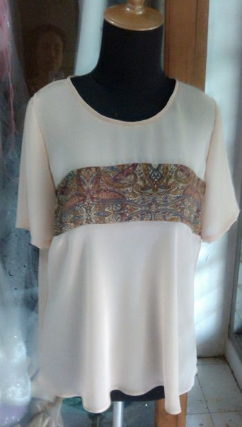 Chiffon Blouse Skin Color for Hanging Out at Jakarta