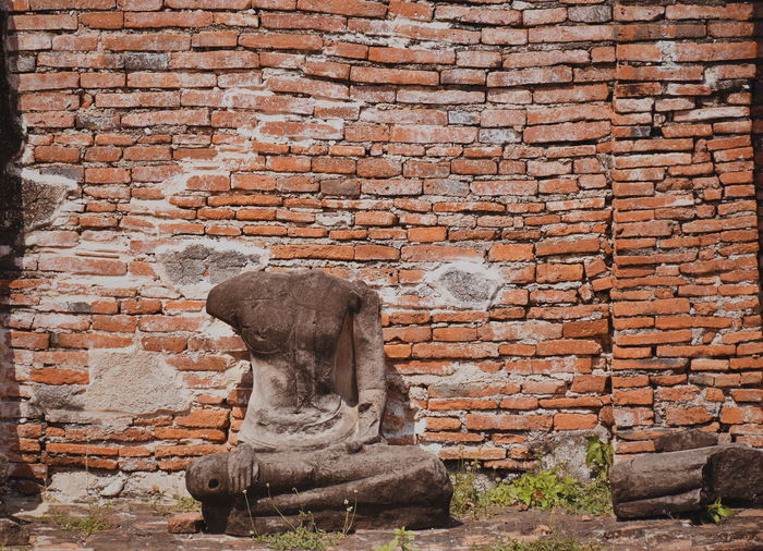 Ayutthaya Thailand Abandoned Ancient Ancient Civilization Architecture Art And Craft Brick Brick Wall Building Exterior Built Structure Damaged Day History Landscape No People Old Old Ruin Outdoors Ruined Solid The Past Wall Wall - Building Feature Weathered