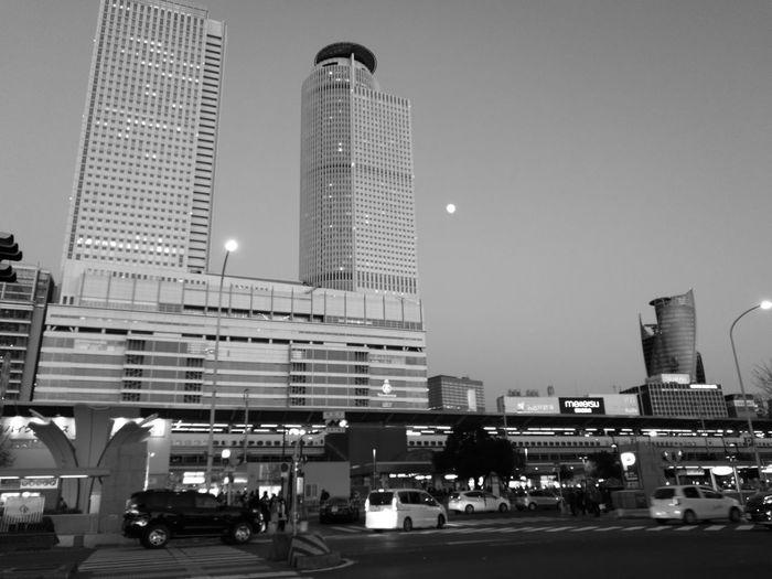Nagoya City Architecture Night Sky Aichi Japan