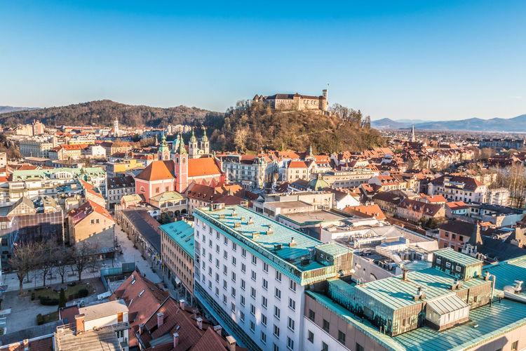 Ljubljana Castle in Slovenia Castle Ljubljana Ljubljana, Slovenia Slovenia Ljubljana Castle Slovenija