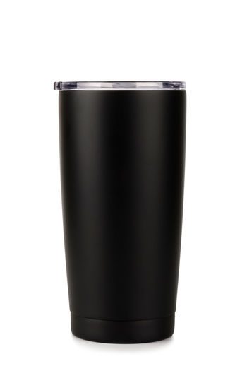 Cut Out White Background Studio Shot Drink Container Black Color Food And Drink Indoors  Refreshment Single Object Copy Space Food Household Equipment Empty No People Bottle Blank Alcohol Glass Clean