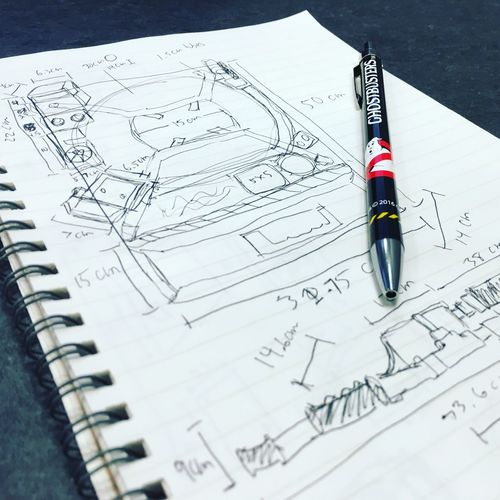 EyeEm Selects Proton Pack Pen Notebook Doodle Paper Blueprint Sketch Architecture Diagram Plan No People Indoors  Close-up Chart Day