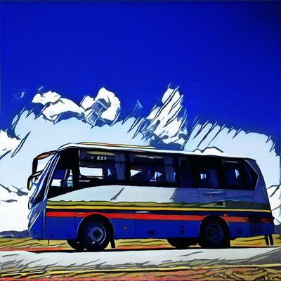 Bus Transportation Travel Bus Motion Art Māksla Tibet Travel тибет Tibet