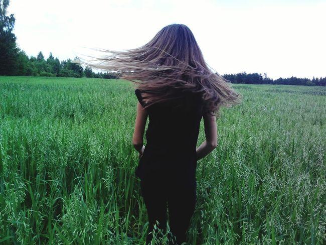 я лето поле случайно Me Hair Lovely Photo Nice