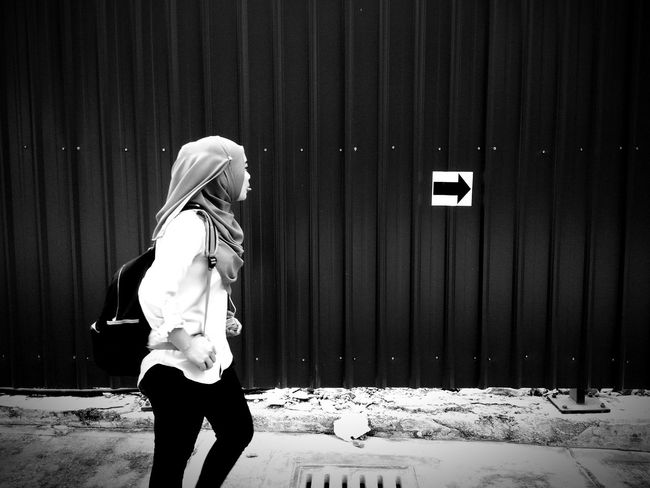 Black And White Friday EyeEm Selects One Person Day Outdoors One Woman Only People Blue Adult Only Women Adults Only Sky One Young Woman Only Blond Hair Young Adult
