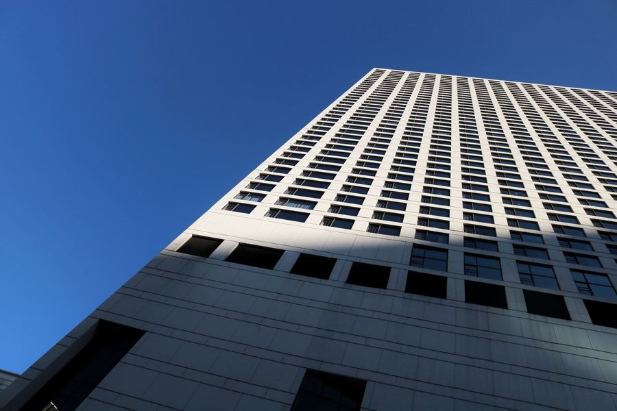Architecture Built Structure Building Exterior Low Angle View Sky Building Clear Sky City Modern Office Building Exterior No People Blue Tall - High Office Nature Window Tower Skyscraper Day Sunlight