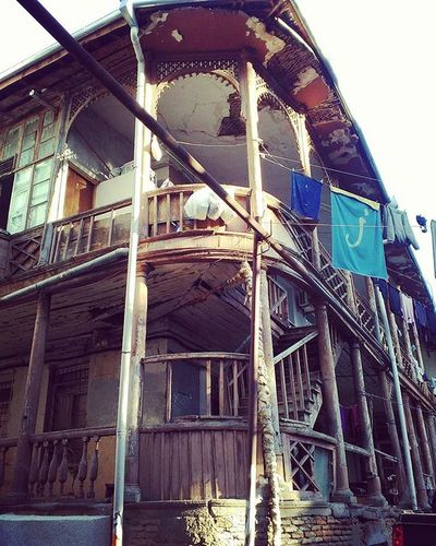 Tbilisi Georgia Oldtbilisi Oldtown Balcony Old House Oldhouse Stairs Woodenstairs Woodenbalcony Oldarchitecture Architecture Balconydesign