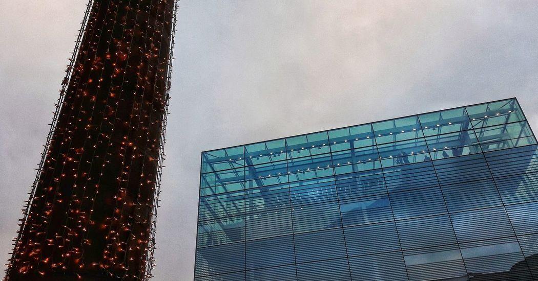 Advent in Stuttgart Architecture Built Structure Kunstmuseum Stuttgart Illuminated Christmas Lights Christmas Decoration Modern Architecture Old Architecture Outdoors Low Angle View Sky No People Christmas Lights Advent Façade Facade Design Blue Art Museum Stuttgart Schlossplatz Christmastime Modern Day