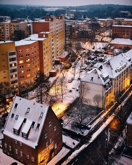 - Snowy Streets - The Week On EyeEm Cold Temperature Winter Snow Streets Beautiful View Town TOWNSCAPE EyeEm Selects Potsdam EyeEm Best Shots Cityscape Travel Destinations Night City Life Outdoors Residential Building Roof Snowing No People High Angle View