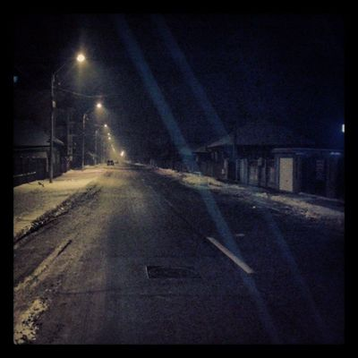 Balintcristian Snow Cold Night street homeroad dark