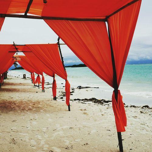 Beach Sand Sea Horizon Over Water Colour Red Beach Structure Outdoors LEICA Q Beach Shades Beach Hut Hut
