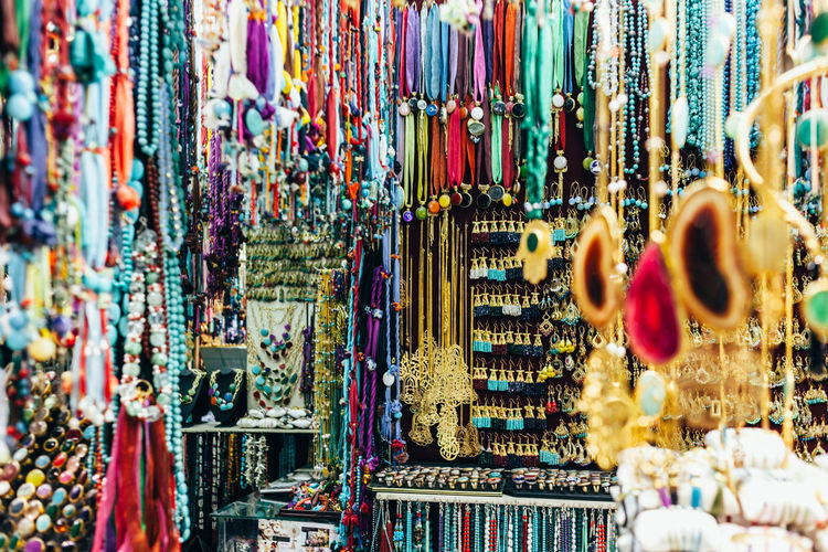 Bazaar Turkey Close Up Day For Sale Handicraft Hanging Jewelry Large Group Of Objects Market Memory Multi Colored No People Souvenirs Tourism Destination