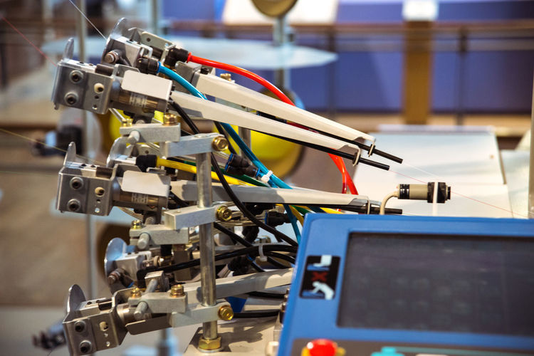 At the Toyota Museum in Nagoya, Japan Airjet Weaving Machine Close-up Cyber Mill Equipment Fabric Focus On Foreground Loom Machine Part Machinery Manufacturing Part Of Selective Focus Tailored To You Textile Textile Industry Textile Machinery Weaving Loom Weaving Machine Ultimate Japan