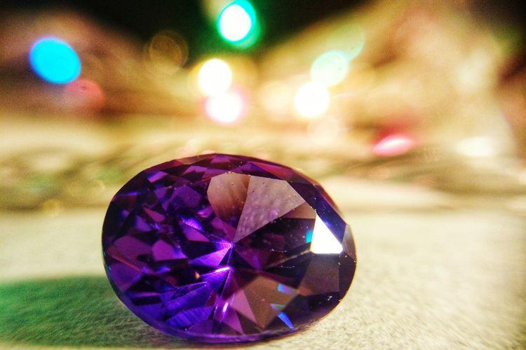 Purple Crystal Gemstone  Shiny Crystal