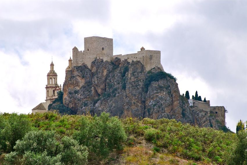 Castle in the Sky. Andalucía Architecture Building Exterior Built Structure Castle Church Architecture Day History Nature No People Outdoors Sky Travel Destinations Tree