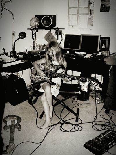 Youth Of Today Playing Guitar Learning Guitar In The Studio Girl Children Photography Child Youth Music Time Getting Inspired Having Fun Hanging Out With Family Band Room Practice Makes Perfect