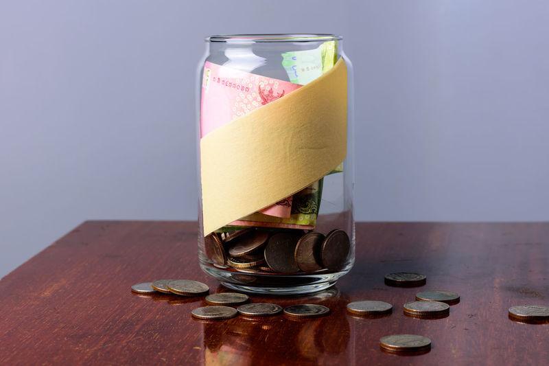 jar of money to