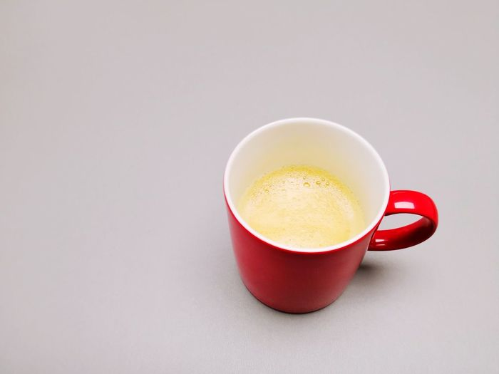 Drink Food And Drink Coffee - Drink Hot Drink Refreshment Coffee Cup No People Indoors  Studio Shot Grey Backround Neutral Free Space For Text Backround