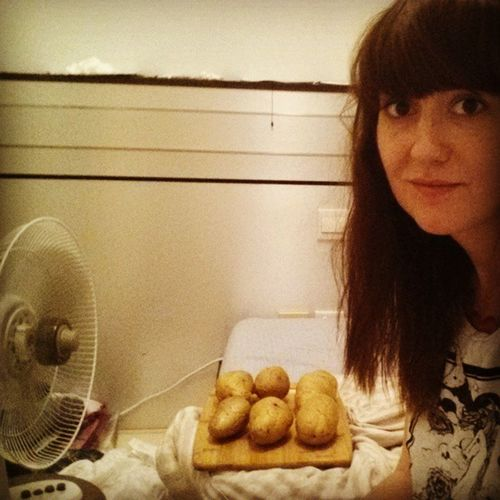 Chilling my spuds. Literally Hotpotatoes