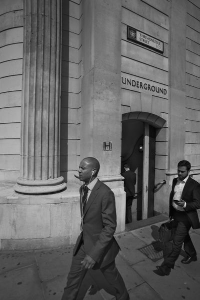 Bank Station Great Britain London Brexit City Men Monochrome Real People Street Streetphotography Tube Station  Well-dressed