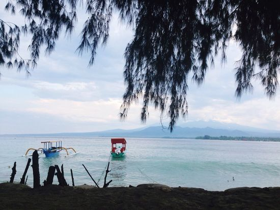Afterthestorm  Calm Peace Relax View Boats Sea Beach INDONESIA Island Giliair