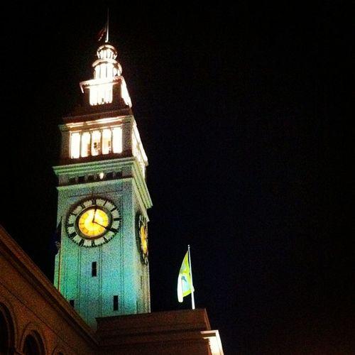 The clock. NightRun