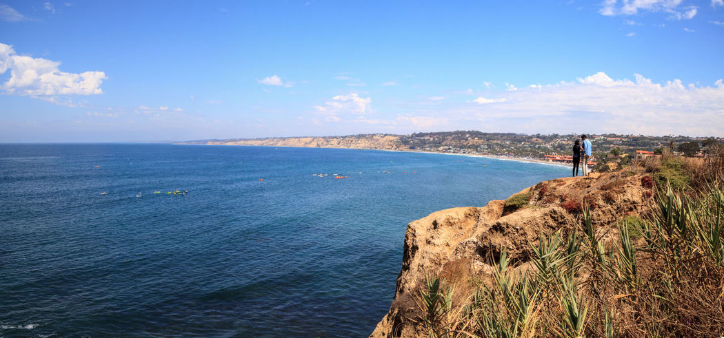 Coastline of La Jolla Cove in Southern California in summer on a sunny day Cliffs Coastline Coastline Landscape Ocean View Panorama Panoramic San Diego View Beach Beauty In Nature Coast Coastal Day La Jolla La Jolla Cove Landscape Nature Ocean Outdoors Sea Sea And Sky Sky Water Waves, Ocean, Nature