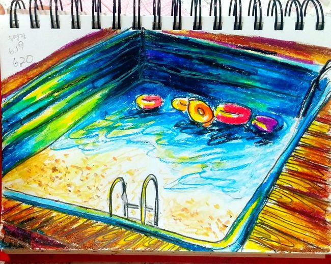 Daily Drawing Doodle Draw By Youna Crayons Swimming Pool