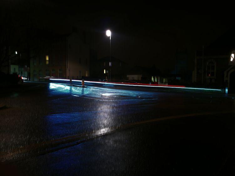 Night Illuminated Reflection Lightpaintingphotography Car Trails The Week On EyeEm