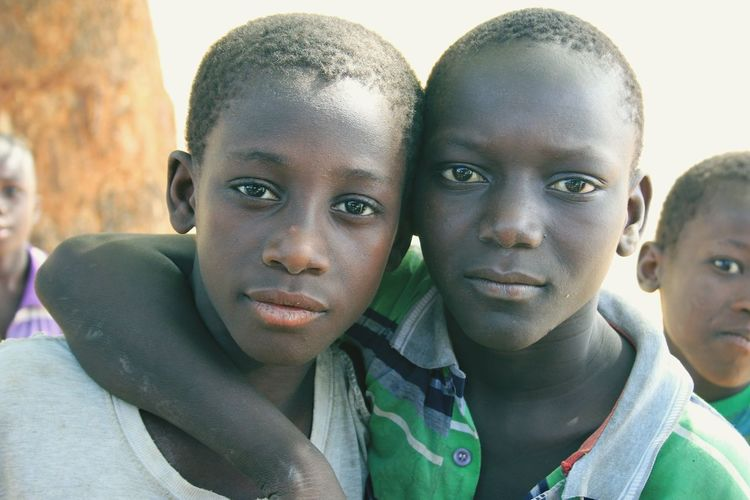 Gambian boys Gambia  Brothers Friendship African Children African Boy Looking At Camera Portrait Boys Headshot Childhood Close-up