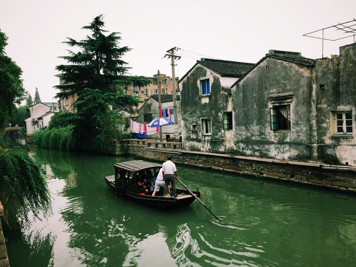 What Who Where China Suzhou Chinesevenice Green Water Boat Olddowntown Architecture Triditional Chinese Trip