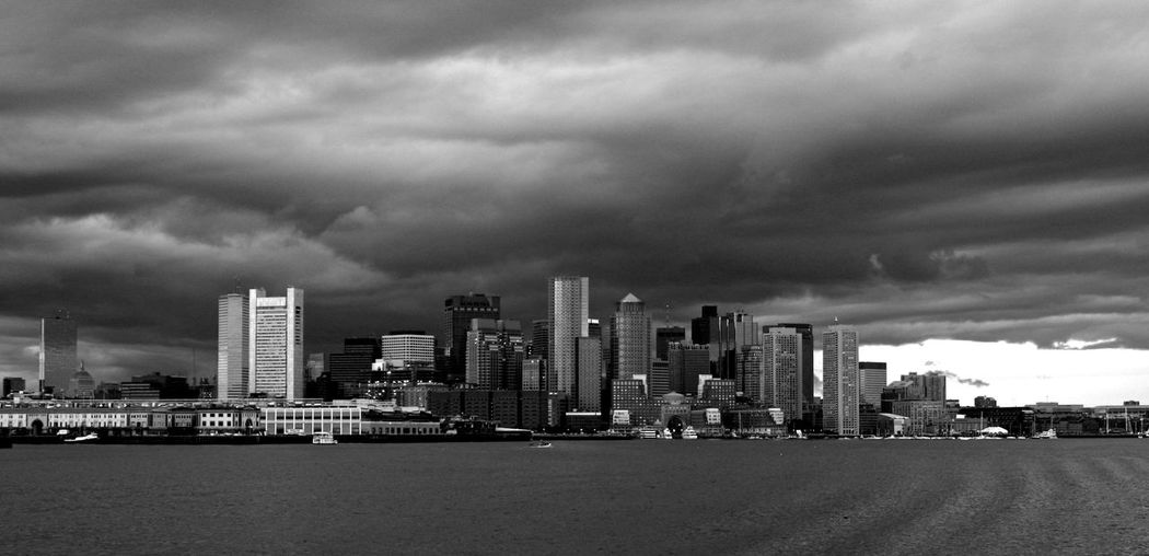 Boston Cityscape Dramatic Sky Skyscrapers United States Architecture Black And White City City Life Cityscape Photography Downtown District Modern Sky Skyscraper Storm Cloud