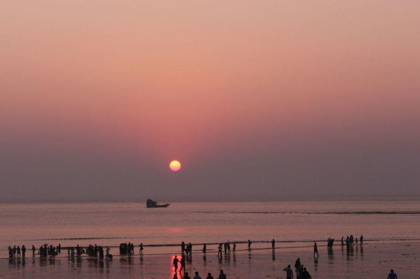 Sunset Sea Beach Sun 700dphotography Nofilternoedit Canon700D Virar Naturalcolor