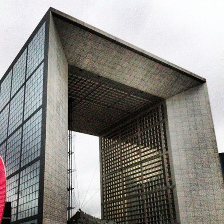 La grande arche. Paris Defense Architecture Moderne big sky great