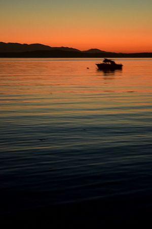 Seattle Sunset Boat Nature Water Pudget Sound Ferry Terminal Landscape Rainbow Reflection June Showcase