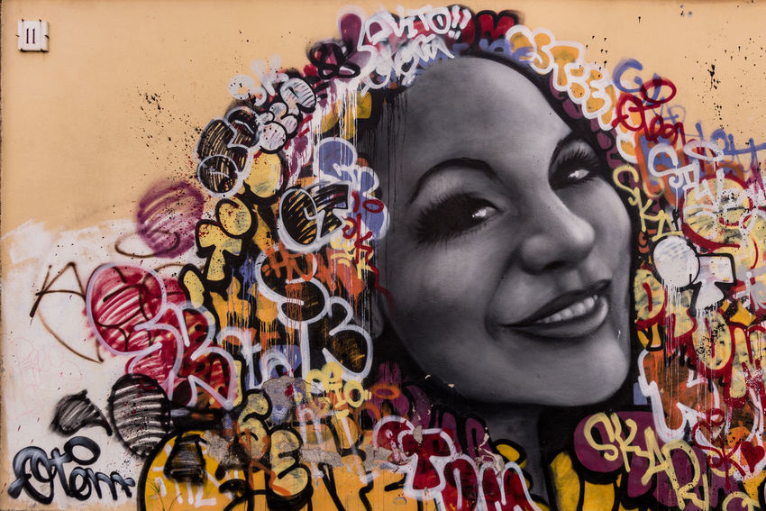 Living colors - Streetart, woman portrait in Rome Colors Ostiense Rome UrbanART Art And Craft Beautiful Woman Close-up Day Headshot Indoors  Italy Life Is A Wall Lifestyles Multi Colored One Person People Real People Spray Streetart Urban Tagging Woman Portrait Young Adult Young Women