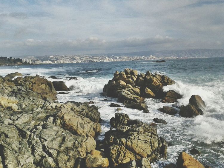 Chile Sea Beauty In Nature Nature Beach Valparaiso, Chile Valparadise America Latina Los Hermanos Winter Pacific Ocean Sea Rock - Object Nature Beach Wave Horizontal Outdoors Beauty In Nature No People Landscape Day Weather Tranquility