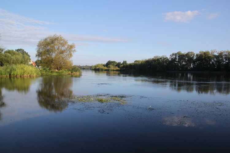 Havel River Havelland Germany Havelradweg Beauty In Nature Cloud - Sky Day Havel Idyllic Lake Landscape Nature No People Non-urban Scene Outdoors Plant Reflection Scenics - Nature Sky Tranquil Scene Tranquility Tree Water