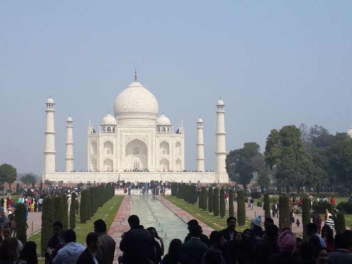 Tourists at taj mahal