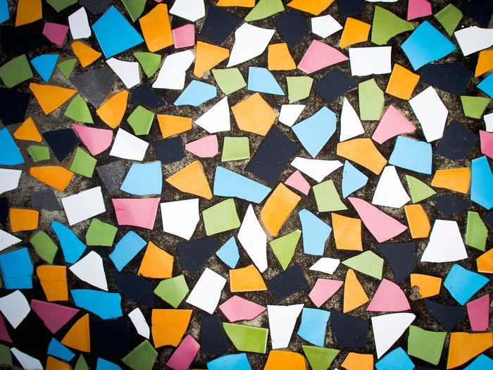 Multi-colored scrap ceramic floor Architecture Flooring Mosaic Nature Square Textured  Wall Abstract Abundance Backdrop Backgrounds Close-up Colorful Creativity Decoration Design Floor Fraction Frame Large Group Of Objects Multi Colored No People Pattern Scrap Tile