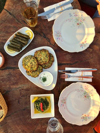 Mediterranean cuisine at its best accompanied by golden hour Summer Foodphotography EyeEm Gallery EyeEm Best Shots Eye4photography  Food And Drink Food Table Plate Freshness High Angle View The Foodie - 2019 EyeEm Awards Directly Above Ready-to-eat Still Life Wellbeing Healthy Eating Serving Size Indulgence Meal No People My Best Photo