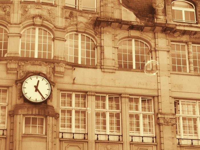 The Architect - 2017 EyeEm Awards Clock Time Building Exterior Architecture Built Structure Window No People Low Angle View Minute Hand Outdoors Clock Face Day City Hour Hand Roman Numeral The Street Photographer - 2017 EyeEm Awards EyeEmNewHere Strasbourg/France Neighborhood Map BYOPaper!