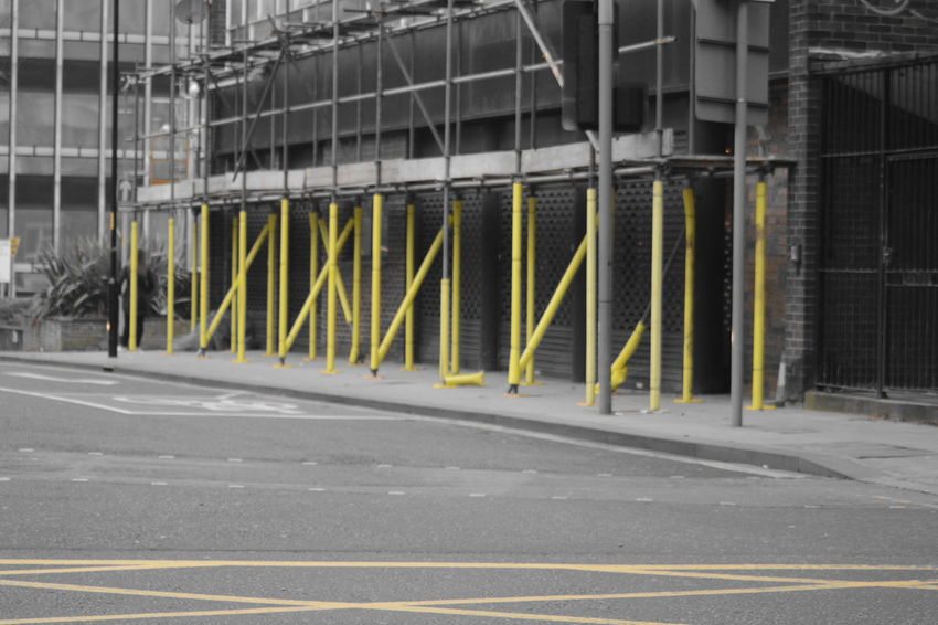 Allmyphotography Built Structure No Filter, No Edit, Just Photography No People Outdoors Road Scaffolding Yellow Sticks