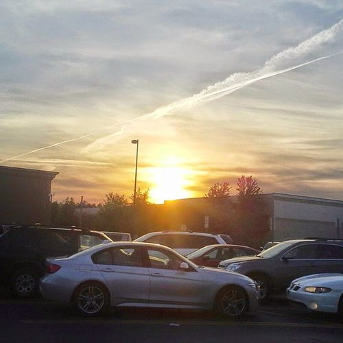Sunset in the parking. Sunset Walmart Parking Columbia ColumbiaSC SC