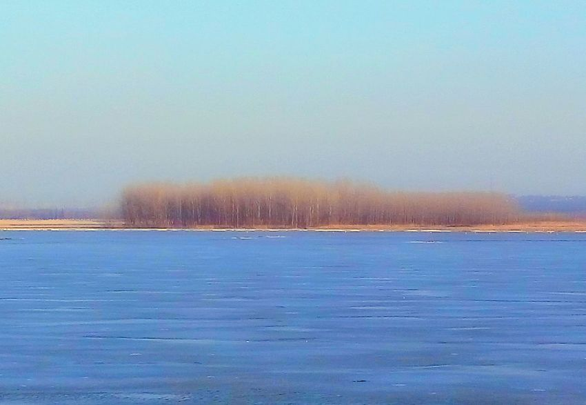 Blue Blue Sky Blue Lake Scenery Shots Grove Wintertime Ice