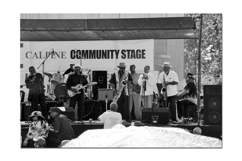 Russell City Blues Festival 3 Blues Bands Live Music Stage Performing Arts Musicians Instruments Microphones Bnw_friday_eyeemchallenge Bnw_performance Monochrome_Photography Monochrome Black & White Black & White Photography Black And White Black And White Collection  Monitors Speakers Amplifiers People In The Crowd Hats Summer Fun ☀️ Enjoying Life Russell City Blues Festival Downtown Arts Culture And Entertainment