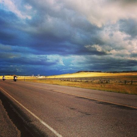 On The Road Overland Motorycle Touring Wyoming Landscape