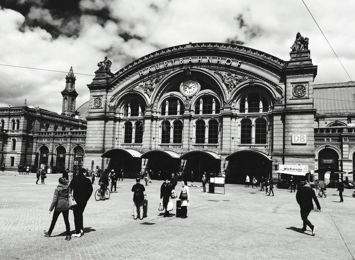 Bremen City Bremen Hauptbahnhof 2016 B&w