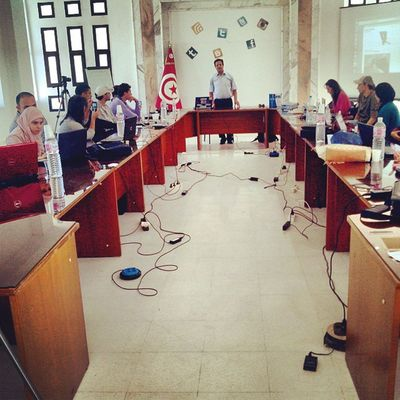 Atelier de blogging a Kalaa Kebira. LBWKebria