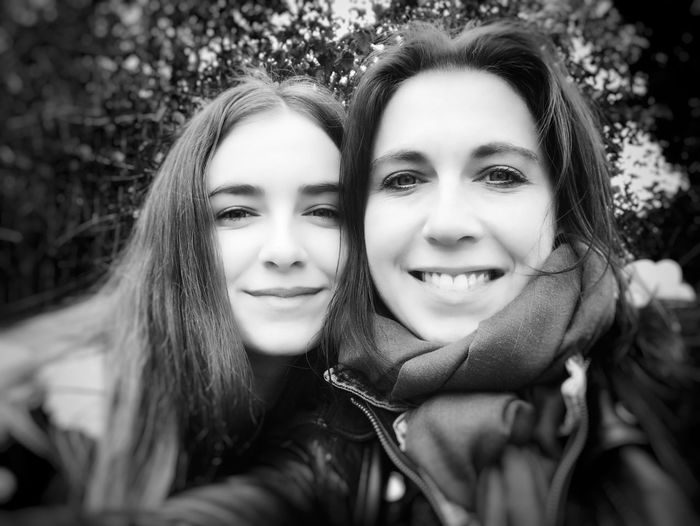 Mother & Daughter Portrait Looking At Camera Smiling Two People Togetherness Friendship Happiness Real People Long Hair My Love Headshot Girls Young Women EyeEmNewHere Fearless And Faithful Black And White Photography Best Team Ever Beauty Motherlove Happiness Resist Love Blackandwhite Photography EyeEm Diversity The Portraitist - 2017 EyeEm Awards This Is Family This Is Family Visual Creativity This Is My Skin